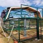 Montage toit à 2 pentes